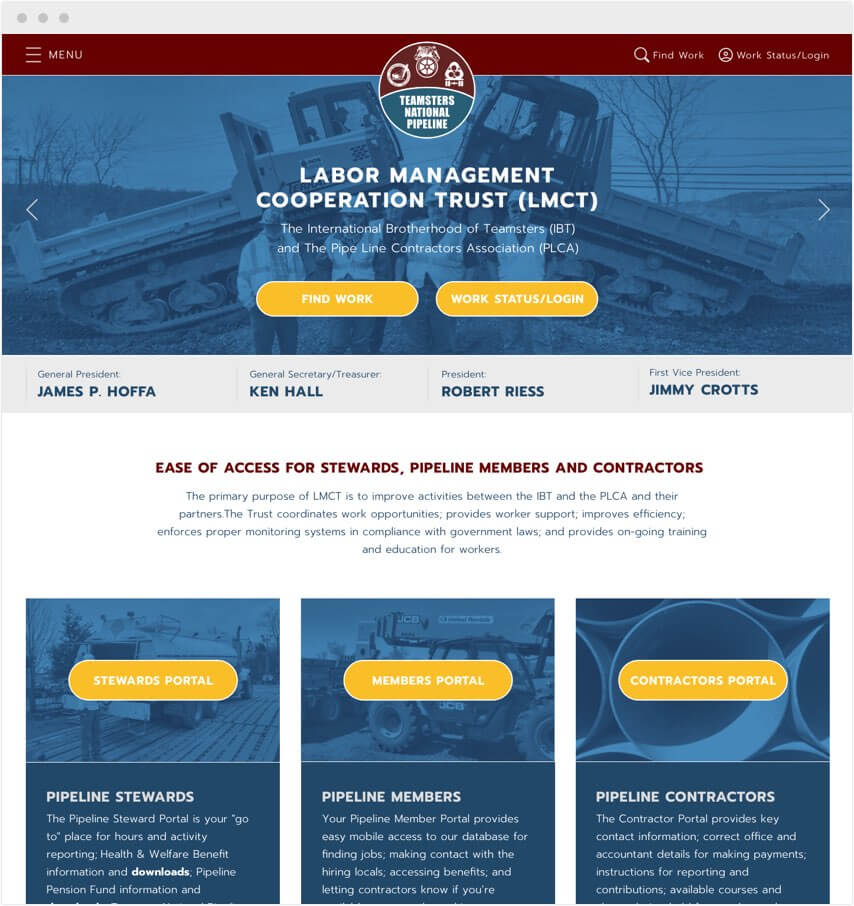 Teamsters & Local Unions Website Design & Digital Marketing Firm