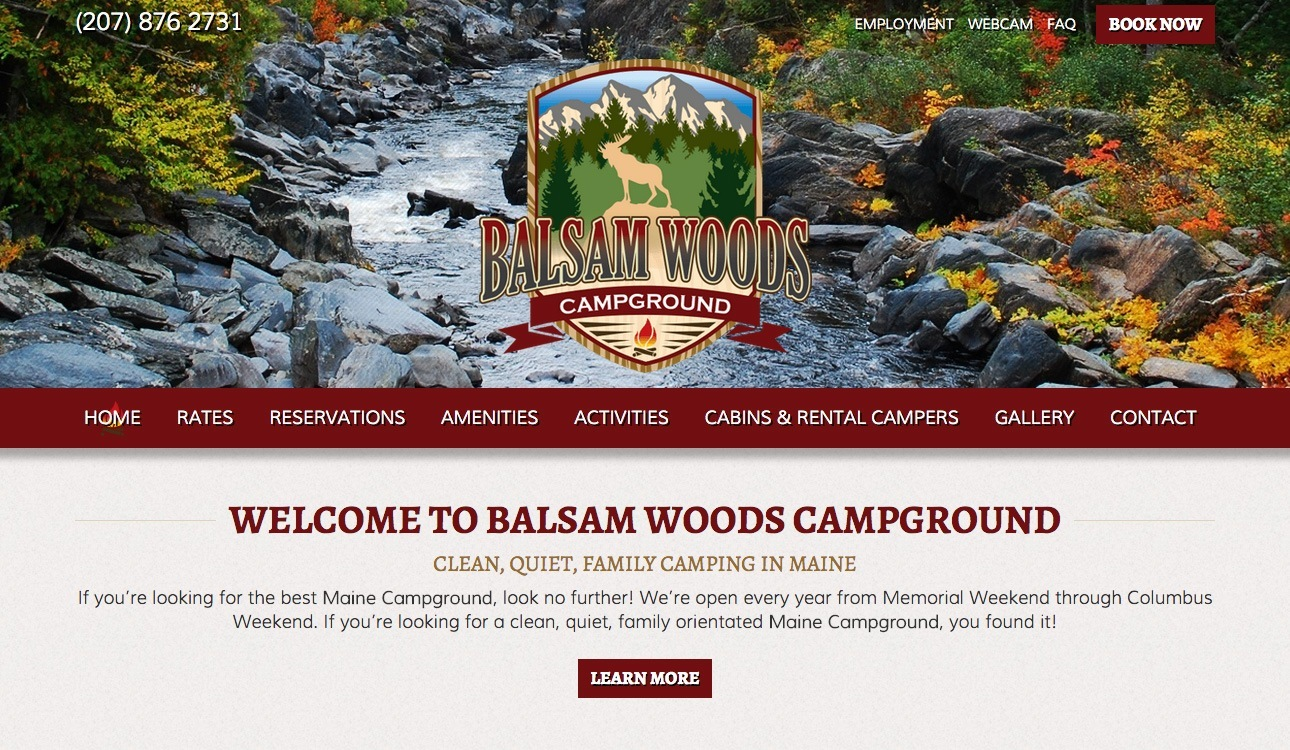 RV Park Campground Website Design