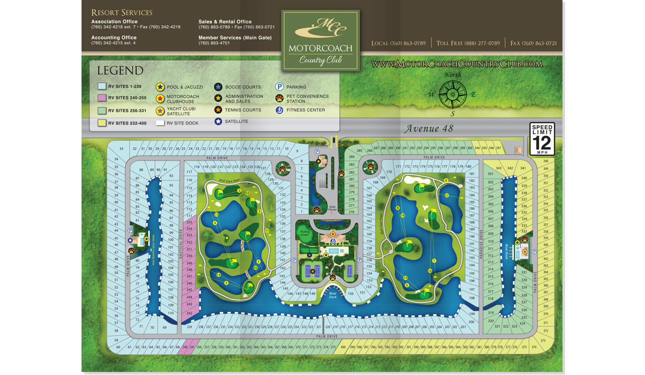 RV Park Map Design