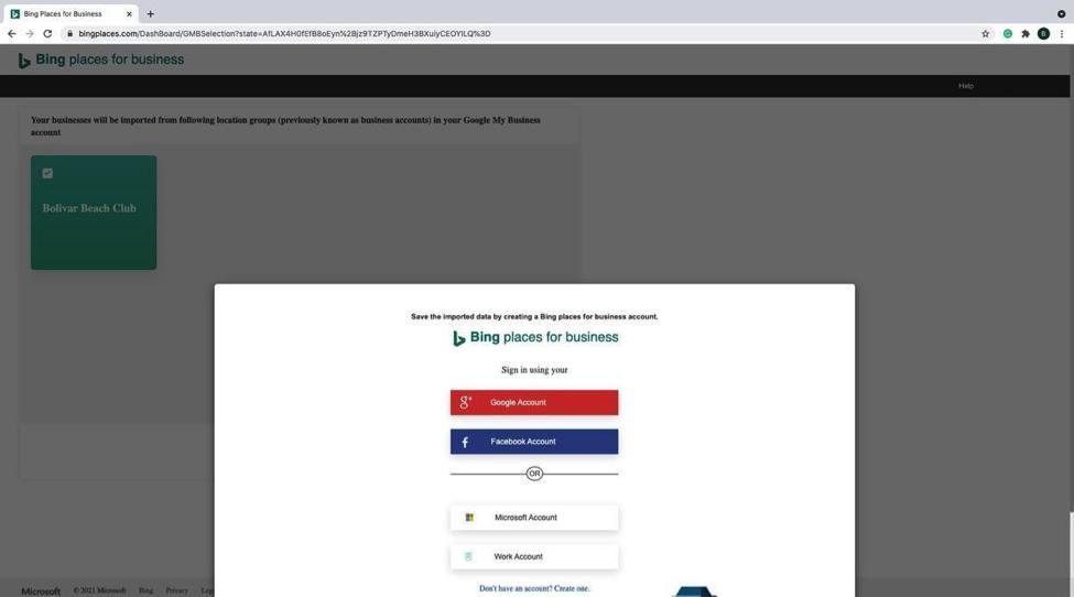 Bing - Step 5 - screenshot of pop-up window prompting sign-in