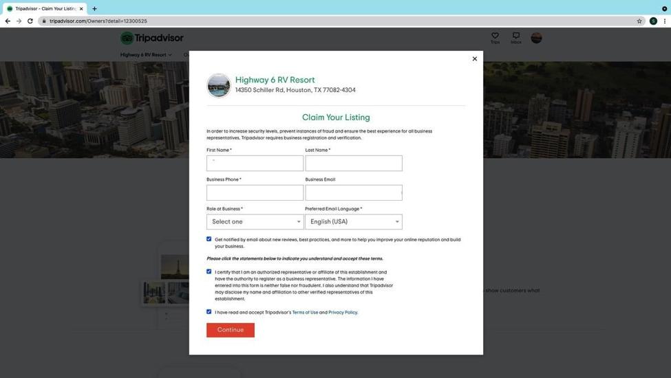 Trip Advisor - Existing Listing step 4